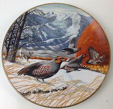 Franklin Michaelsen 1984 GRAY PARTRIDGE IN DECEMBER Ltd Ed Plate