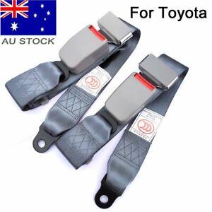 2X For Toyota Rear Side Middle Seat Lap Belts Bus Mpv Coach Universal Seatbelts
