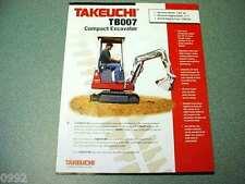 Takeuchi TB007 Compact Excavator Brochure