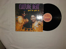 "Culture Beat ‎– Got To Get It - Disco Mix 12""  Vinile 1993 Euro House"