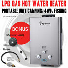 Rio Grande Instant Portable Gas Hot Water Heater LPG Gas Camp Shower Caravan 4WD