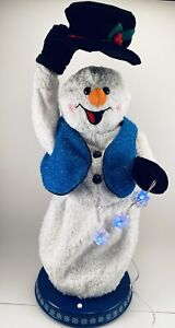 Gemmy Snowflake Spinning Snowman Animated Singing Dancing Snow Miser Works READ