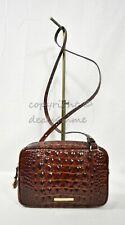 Brahmin Leather Pecan Melbourne Demi Crossbody Shoulder Bag Purse