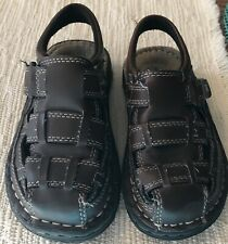 Arizona Brown Leather Toddler Boys Closed Toe Sandals Size 11