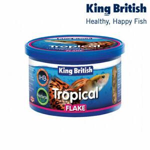 King British Tropical Flake Fish Food Aquarium Tank Active Health 12/28/55/200g