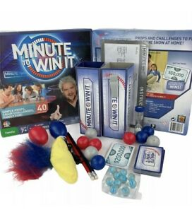 Minute To Win It Mattel Family Board Game CBS 2011 Clean & Complete