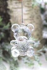 Gisela Graham Navidad Acrílico Transparente Cristal Oso De Peluche Decoración