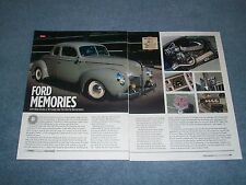 """1940 Ford Standard Coupe Resto-Rod Article """"Ford Memories"""""""