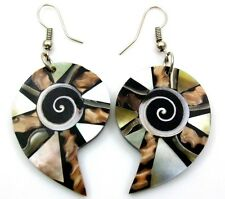 Mother of Pearl Cone Shells Shiva Eye Dangle Drop Earrings Women Jewelry  EA262