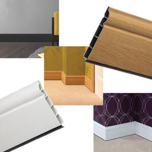 Plastic Skirting Board 5m Long - Roomline Skirting uPVC Ogee / Torus Skirting