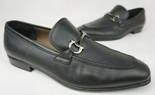 Salvatore Ferragamo Tapas Gancini Bit Loafers Men's Black Shoes Size 11 EE 2E