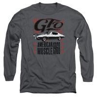 Pontiac GTO FLAMES Licensed Adult Long Sleeve T-Shirt S-3XL