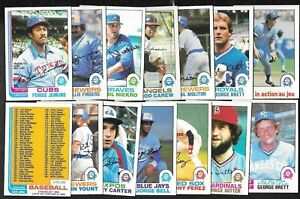 1982 OPC O PEE CHEE TOPPS MLB BASEBALL CARD 133-264 SEE LIST