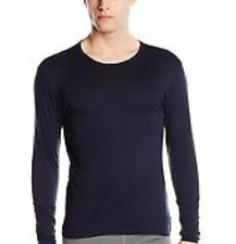 $50 32 DEGREES HEAT Men's THERMAL CREW NECK SHIRT Long Sleeve BLUE BASE LAYER L