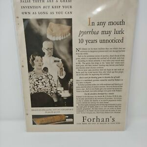 1931 Forhan's Tooth Paste Advertisement