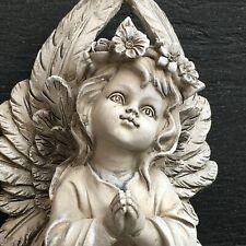 XL Trauerengel 25cm Rose Herz Grablicht Grabvase Grabschmuck Grabengel Skulptur