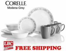 Corelle medona grey 16 PC dinnerware set paypal