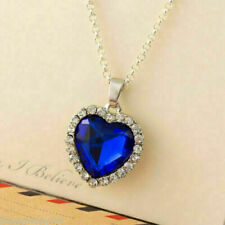 Stunning Blue Titanic Necklace Heart Of The Ocean Pendant Jewellery Gift For Her