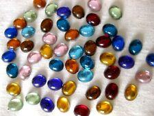 100 Acryl-Strass-Glitzersteine,oval,zum Basteln,verschiedene Farben10x8mm St11.2