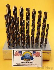 """Drill Hog USA 29 Pc Drill Bit Set 1/16"""" - 1/2"""" M7 Drill Stand Lifetime Warranty"""