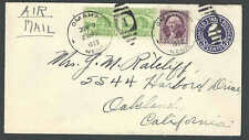 1933 Air Mail 8c Rate From Omaha Ne To Oakland Ca