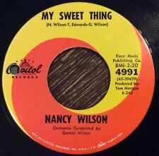 NANCY WILSON My Sweet Thing / Tell Me The Truth 45, '63 Mod Soul Dancer Capitol