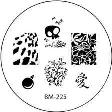Stamping plaque Bundle Monster BM225 pour vernis ongles