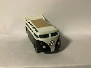 Hot Wheels VW T1 Drag Bus from Phil's Garage black and white on Real Riders