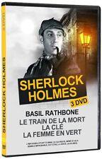 * Sherlock Holmes 3 DVD -LE TRAIN DE LA MORT/LA CLE/LA FEMME EN VERT- NEUF -