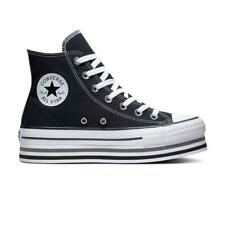 Scarpe Donna Converse All Star Platform Hi Layer Zeppa Nero Black  36 37 38 39