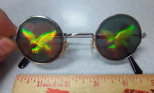 Novelty Hologram Sunglasses, Youth size 4.75 in wide, Flying Eagle, Fun for kids