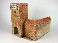 Diorama Burgtor Stadttor Tor Mauer mit Tortum Tum 40 mm 4 cm Figuren Elastolin
