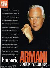 Coupure de Presse Clipping 1998 (3 pages) Emporio Armani
