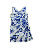 NWT Caroline Morgan Womens A - Dress Size 16 Blue / White RRP$59.95