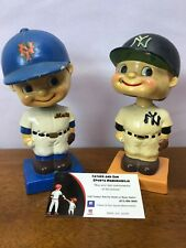 Vintage 1960 MLB NY Mets and Yankees Bobble Heads Japan Nodder Extremely Rare!