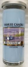 Yankee Candle BEACH WALK Large Perfect Pillar Blue 1-wick New Wax Fresh