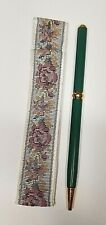 REFLECTIONS Ball Point Pen, Green (Fine Writing Instruments) w/Floral Sleeve
