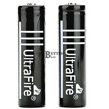 2x 6000mAh Black 18650  3.7volt LI-ION Rechargeable Battery for UltraFire BT6U