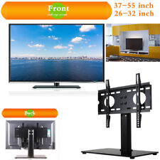 Universal Table TV Stand LCD LED Plasma VESA Bracket Glass Pedestal Fit 26-71''