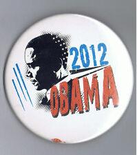 "ReElect Barack Obama 2012 President 3"" Political Pinback Campaign Button Forward"
