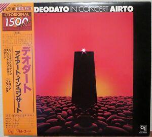Deodato In Conert Airto. 1979 Jazz LP. Japan w/ OBI. LAX 3233