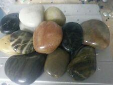 2kg couleurs mélangées poli river pierres maison jardin fontaines à eau