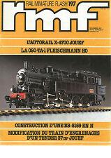 RMF N°197 AUTORAIL X-4700 JOUEF / 050-TA-1 FLEISCHMANN HO / BB-8169 / ENGRENAGES