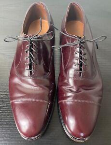 Allen Edmonds Park Avenue men's Burgundy Oxford cap toe dress shoes size 9 D USA