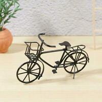 1:12 Scale Black Metal Ladies Bicycle With Basket Tumdee Bike Dolls Garden