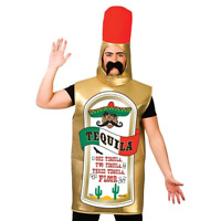Adult Tequila Bottle Costume Stag Do Mexican Festival Fancy Dress Outfit