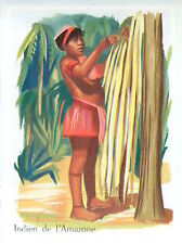 IMAGE CARD 60s COSTUME TYPE Indien Indigenous peoples Amazon River South America