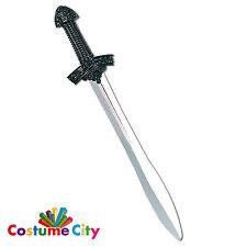 Medieval Black Knight Prop Crusader Sword Fancy Dress Costume Accessory