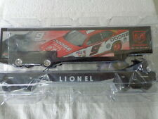 "LIONEL ""O"" AND ""027""  FLAT CAR WITH KASEY KANE DODGE TRAILER"