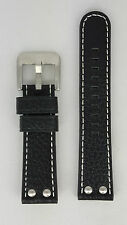 TW Steel Canteen TW22 Watchband Black Leather Strap 22 mm TW37 TW620 TW622